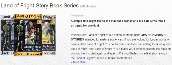 Land of Fright series page on Amazon